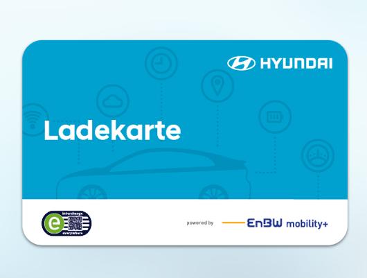 Charge card logo of Hyundai