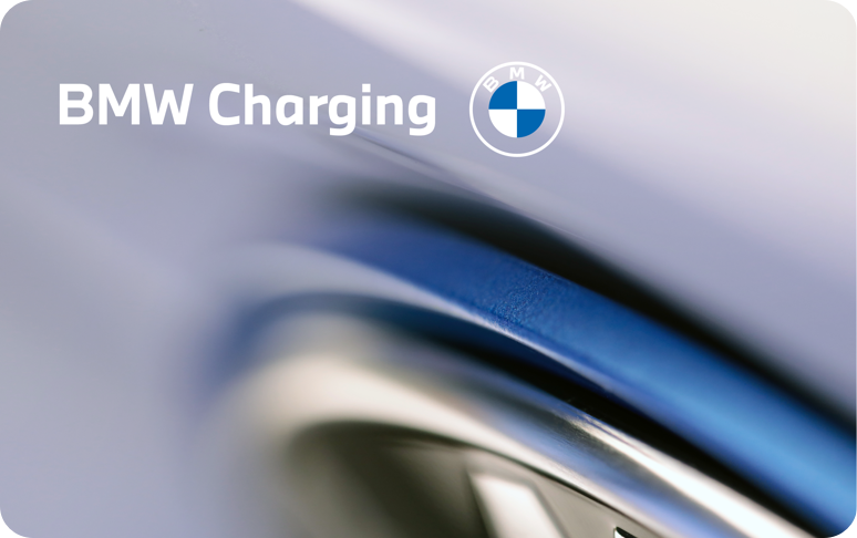 Charge card logo of BMW Charging