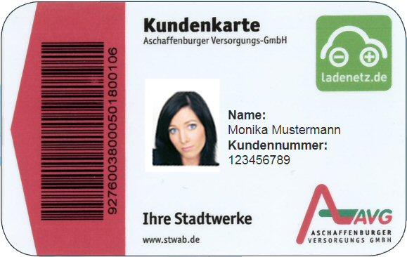 Charge card logo of AVG Ladekarte