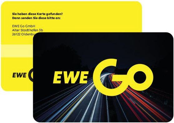 Charge card logo of EWE-Go Mobility Card