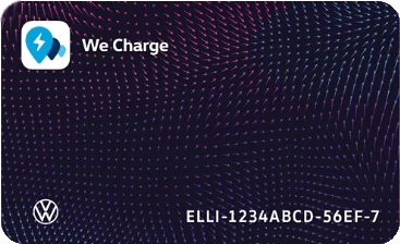Charge card logo of Volkswagen We Charge Free
