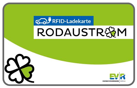 Charge card logo of Rodau Energieversorgung