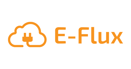 Charge card logo of E-Flux Orange | Pay as you charge