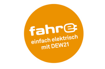 Charge card logo of DEW21 Fahr-E