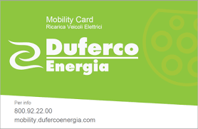 Charge card logo of Duferco Energia (DUE)